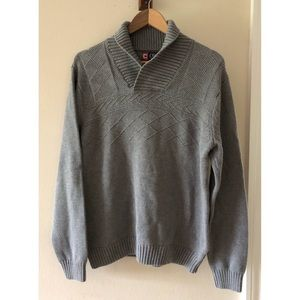 Chaps Grey Cotton Sweater